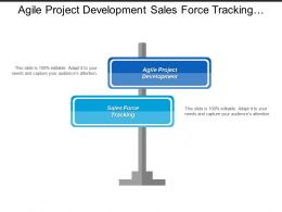 Agile Project Development Sales Force Tracking Marketing Efficiency Cpb