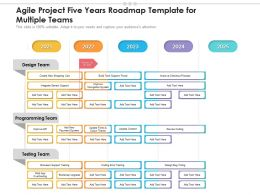 Agile Project Five Years Roadmap Template For Multiple Teams