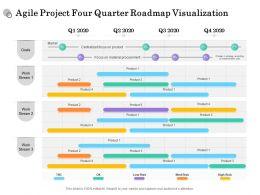 Agile Project Four Quarter Roadmap Visualization