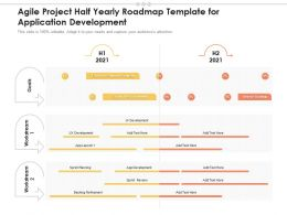 Agile Project Half Yearly Roadmap Template For Application Development