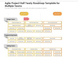 Agile Project Half Yearly Roadmap Template For Multiple Teams