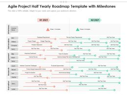 Agile Project Half Yearly Roadmap Template With Milestones