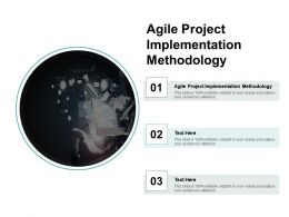 Agile Project Implementation Methodology Ppt Powerpoint Presentation Slides Diagrams Cpb