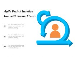 Agile Project Iteration Icon With Scrum Master