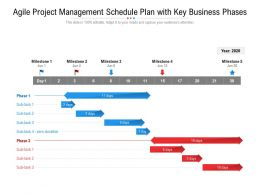 Agile Project Management Schedule Plan With Key Business Phases
