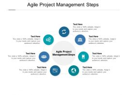 Agile Project Management Steps Ppt Powerpoint Presentation Portfolio Icon Cpb