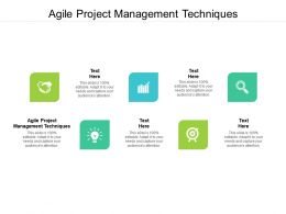Agile Project Management Techniques Ppt Powerpoint Presentation Outline Images Cpb