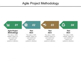 Agile Project Methodology Ppt Powerpoint Presentation Infographic Template Slideshow Cpb