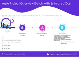 Agile Project Overview Details With Estimated Cost Parameters Ppt Powerpoint Presentation Topics