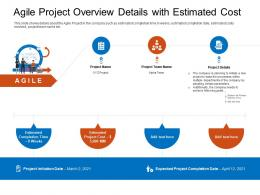Agile Project Overview Details With Estimated Cost Project Ppt Pictures
