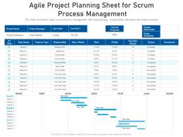Agile Project Planning Sheet For Scrum Process Management