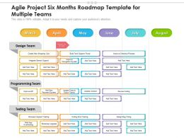 Agile Project Six Months Roadmap Template For Multiple Teams