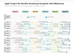 Agile Project Six Months Roadmap Template With Milestones