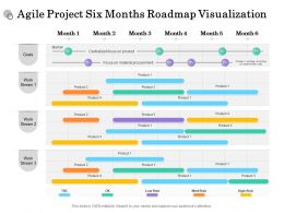 Agile Project Six Months Roadmap Visualization