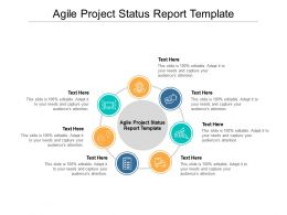 Agile Project Status Report Template Ppt Powerpoint Presentation Cpb