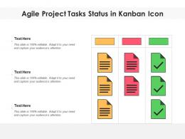 Agile Project Tasks Status In Kanban Icon