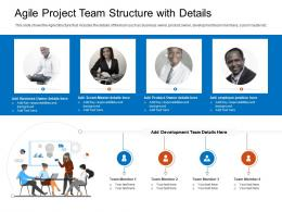 Agile Project Team Structure With Details Background Ppt Designs
