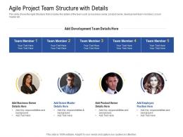 Agile Project Team Structure With Details Employee Ppt Powerpoint Presentation Icon Clipart Images