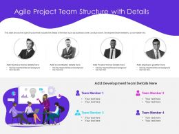Agile Project Team Structure With Details Position Ppt Powerpoint Presentation Designs Download