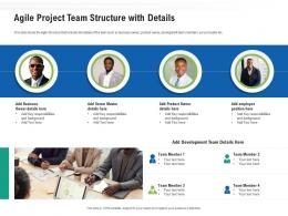 Agile Project Team Structure With Details Ppt Powerpoint Presentation Summary Samples