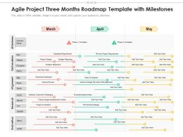 Agile Project Three Months Roadmap Template With Milestones