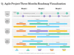 Agile Project Three Months Roadmap Visualization