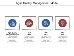 Agile Quality Management Model Ppt Powerpoint Presentation Styles Graphics Design Cpb