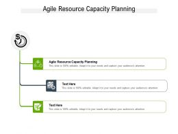 Agile Resource Capacity Planning Ppt Powerpoint Presentation Inspiration Guide Cpb