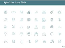 Agile Sales Icons Slide Ppt Powerpoint Presentation File Aids