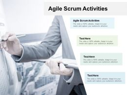 Agile Scrum Activities Ppt Powerpoint Presentation Layouts Layout Ideas Cpb