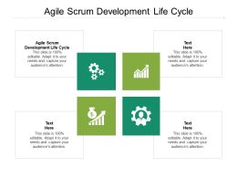 Agile Scrum Development Life Cycle Ppt Powerpoint Presentation Model Deck Cpb
