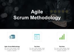 Agile Scrum Methodology Ppt Powerpoint Presentation Slides Templates Cpb