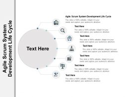 Agile Scrum System Development Life Cycle Ppt Powerpoint Presentation Infographics Summary Cpb