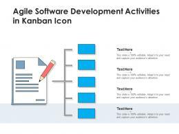 Agile Software Development Activities In Kanban Icon