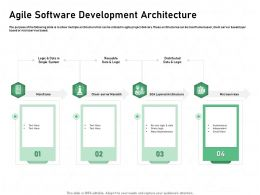 Agile Software Development Architecture Microservices Powerpoint Presentation Good