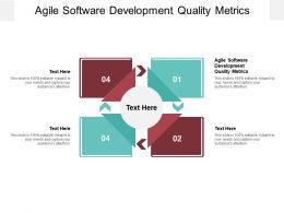 Agile Software Development Quality Metrics Ppt Powerpoint Presentation Cpb