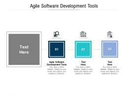 Agile Software Development Tools Ppt Powerpoint Presentation Styles Infographic Template Cpb