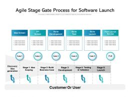 Agile Stage Gate Process For Software Launch
