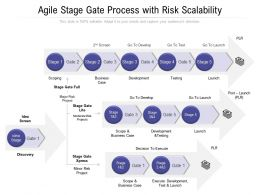 Agile Stage Gate Process With Risk Scalability