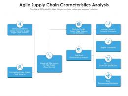 Agile Supply Chain Characteristics Analysis