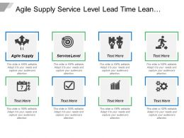 Agile Supply Service Level Lead Time Lean Supply
