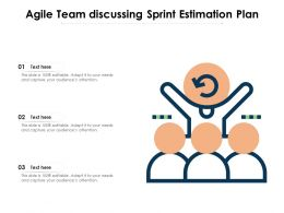 Agile Team Discussing Sprint Estimation Plan
