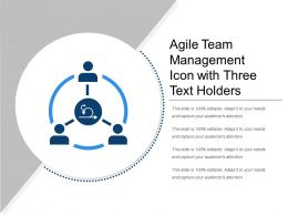Agile Team Management Icon With Three Text Holders