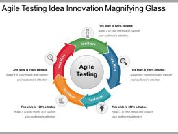 Agile Testing Idea Innovation Magnifying Glass Powerpoint Themes