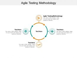 Agile Testing Methodology Ppt Powerpoint Presentation Professional Infographic Template Cpb
