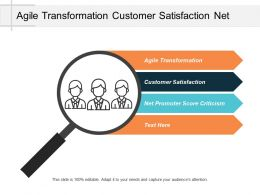 Agile Transformation Customer Satisfaction Net Promoter Score Criticism Cpb