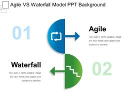 Agile Vs Waterfall Model Ppt Background