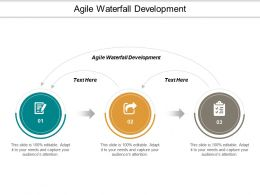 Agile Waterfall Development Ppt Powerpoint Presentation Model Background Cpb