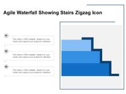 Agile Waterfall Showing Stairs Zigzag Icon