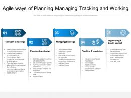 Agile Ways Of Planning Managing Tracking And Working